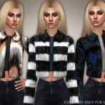 Black Lily's Collared Faux Fur Jacket 02