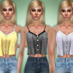 Black Lily's Checked Summer Top