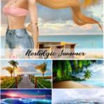 Jennisims: Downloads sims 4:CAS Screens Nostalgic Summer (7 Cas background)