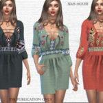 Sims House's Dress Bohemia