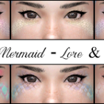 Jennisims: Downloads sims 4:EyeShadow UndineThe Mermaid (11 Swatches )